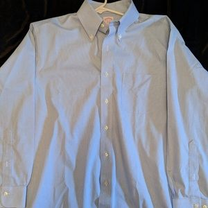 Mens Brook Brothers Blue & White 346 Buttondown